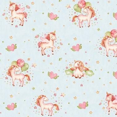 Duka Duvar Kağıdı Kids Collection Pony DK.15111-3 (16,2 m2) Renkli